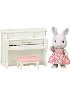Sylvanian Sylvanian Families Tavşan Kardeş ve Piyano Seti